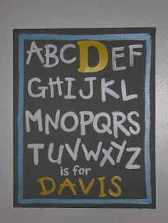 name sign diy diy diy