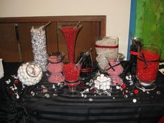 This was for a boy's Bar Mitzvah but we also did a similar one for a boys b-day party. Red, black and white is a popular theme for boys