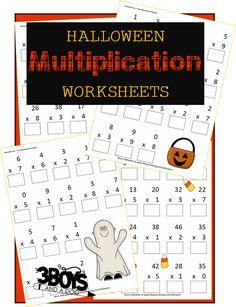 Halloween Printables: Multiplication Worksheets
