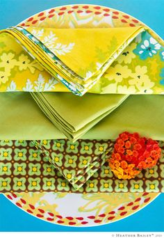 link to sewing napkins with mitered corners