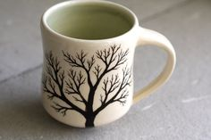 A hand-painted mug makes even a simple cup of coffee a work of art.