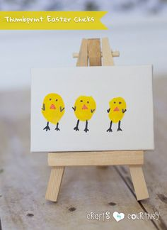 Easter Craft: How-to Create Cute Thumbprint Easter Chicks