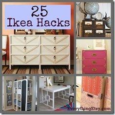 DIY: 25 Ikea Hacks.