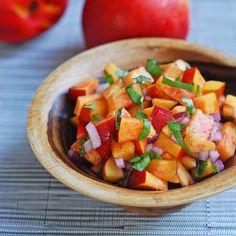 Nectarine Basil Salsa