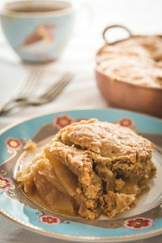 Swedish apple pie ~ This pie has the convenient advantage compared to a traditional pie in that there is no crust to roll out and line the pan with - so if crust isnt your deal, then this is certainly the pie for you.