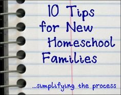 10 tips for new homeschoolers