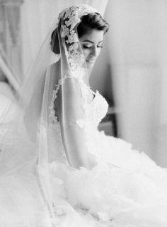veiled bride // photo by Valentina Glidden // http://ruffledblog.com/elegant-orange-county-wedding