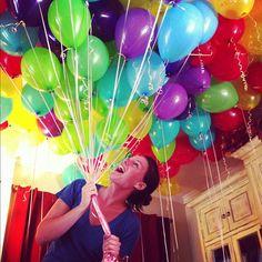 Chi Omega's balloon decorations for Bid Day.  So pretty!
