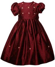Holiday girls Silk dress for Christmas  http://www.carouselwear.com/holiday-girls-silk-dress-for-christmas.html