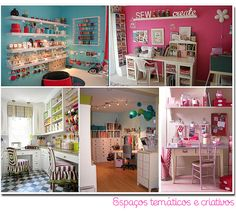 craft spaces. neat. organized. cute.