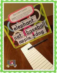 Make Your Own Table Top Pocket Chart - The Organized Classroom Blog