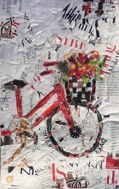 Nancy Standlee Art Blog: Torn Paper Collage Workshop ~ Florida by Texas Artist Nancy Standlee
