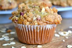 Oatmeal Pomegranate Muffins - Mother Thyme