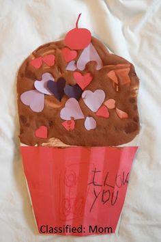 Valentine's Day Kids Craft: Love Cupcake