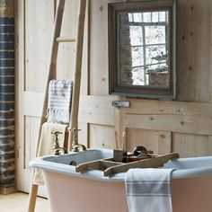 Reclaimed rustic bathroom