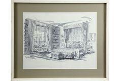 Bedroom-presentation drawing