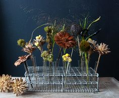 Spooky Fall Dried Flower Centerpiece