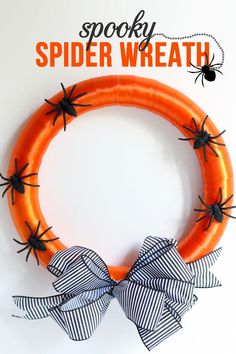 Decorate your #apartments this #Halloween with this awesome #DIY Spooky Spider Wreath!