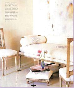 Beautiful antique settee- Suzanne Kasler