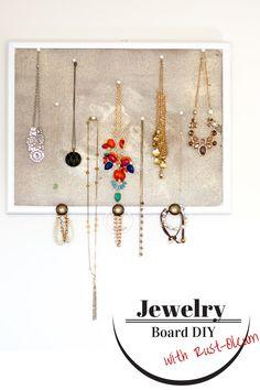Easy DIY Jewelry Storage idea