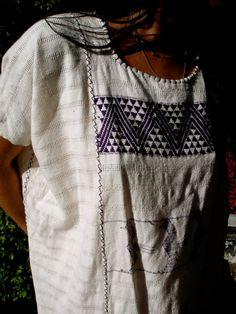 vintage woven blouse.