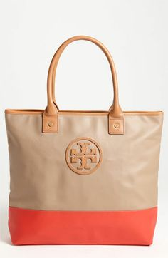 Tory Burch 'Jaden' Canvas Tote...love these colors! What a perfect bag for spring! HINT!