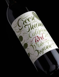 The Dieline featuring Green Thumb wine. Packaging design by Stranger & Stranger