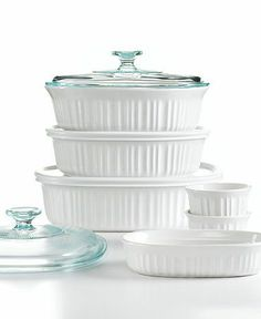 This Corningware French White 10 Piece Bakeware Set. will be the envy of everyone in your life.