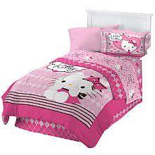 Amazon.com: Hello Kitty Sweet and Sassy Full Comforter Set: Home & Kitchen