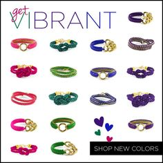 Vibrant jewel tones for arm candies this year!