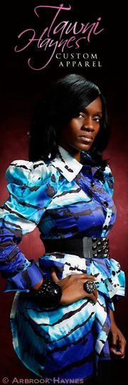 Tawni Haynes Multi Color Tuxedo Blouse