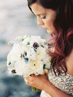terribly gorgeous anemone bouquet  http://www.weddingchicks.com/2013/12/09/glacier-national-park-wedding/