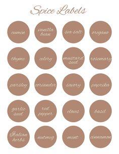 Scrapdiggity Freebie: Spice Labels