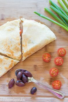 Greek-Style Quesadillas from @Shonda Clements Clements Clements Chadwick Spatulas | Joanne Ozug