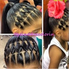 Kids hairstyles. Ponytail hairstyles for little girls