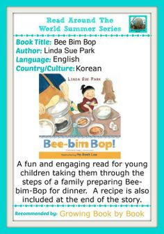 Bee Bim Bop by Linda Sue Park - Korean Culture