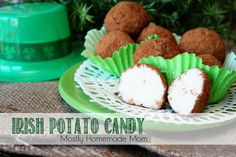 Irish Potato Candy - these are so fun and absolutely delicious for St. Patty's Day!