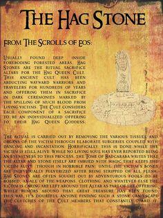 Alien Dungeon: March 2012 hag stones, hagstones