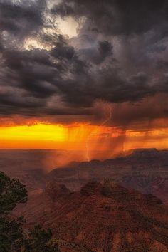 Canyon Thunderstorm. Grand Canyon, AZ by Bryan Snider