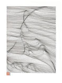 Landscape ink drawing