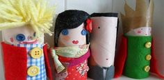 Muñecos con rollos de papel