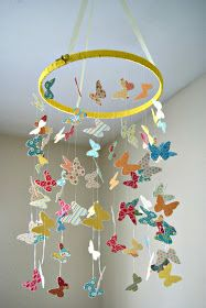Season With Love: DIY Butterfly Mobile