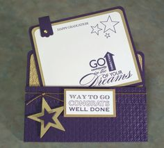 Congrats Graduation Card using Stampin Up Starring You - Free Shipping to US via Etsy