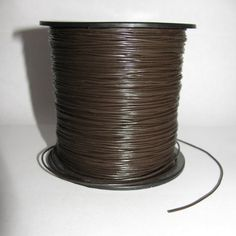 5 Yards Brown Pleather 1mm Cord Stringing by EcoBeadsTagua on Etsy, $5.00