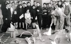 The #Bauhaus Basic Course, Josef #Albers with #students, #1928