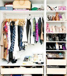 11 Closet Organization Ideas From Pinterest via @WhoWhatWear
