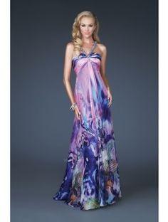 bridesmaid dress on multicolored