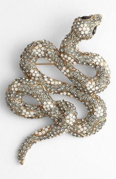Tasha 'Critters' silver Snake Brooch / pin - animal jewelry