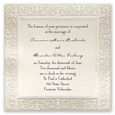 Filigree - Invitation | Invitations By David's Bridal