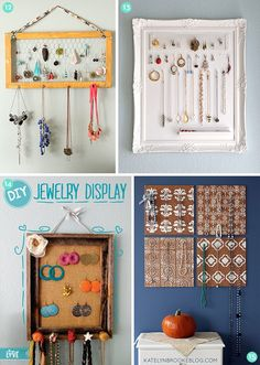25 simple #DIY jewelry organizer and holder projects!